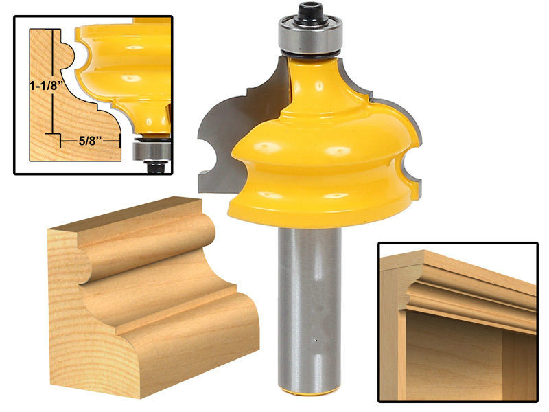 Freeshipping New Arrive wood cutter Classical & Bead Molding & Edging Router Bit 1/2 Shank end mill router bits for wood/fresa high grade carbide alloy 1 2 shank 2 1 4 dia bottom cleaning router bit woodworking milling cutter for mdf wood 55mm mayitr