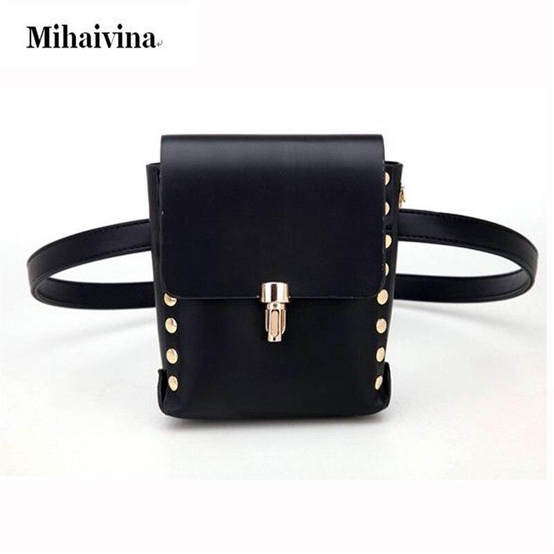 Bolsos de la cintura del cuero de la PU de la manera Bum Bag Mujeres - Bolsas de cinturón