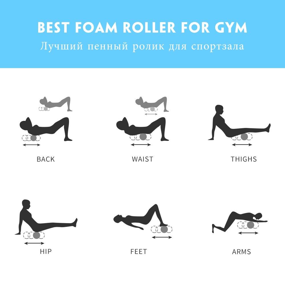 Column Yoga Block, Fitness Equipment, Foam Roller Fitness Gym, Exercises Muscle Massage 5