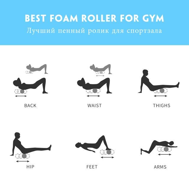 COPOZZ Column Yoga Block Fitness Equipment Pilates Foam Roller Fitness Gym Exercises Muscle Massage Roller Yoga