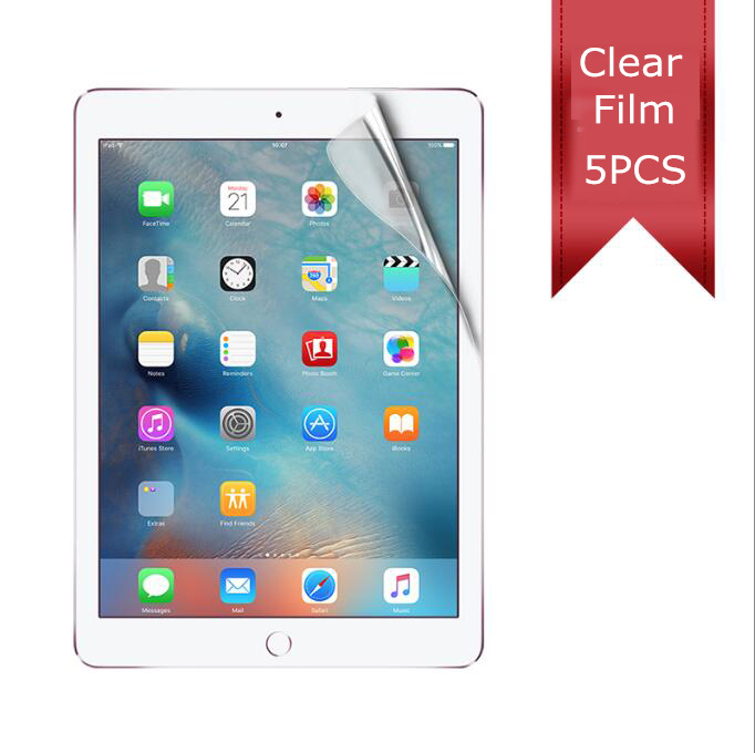 5pc/pack Hd Clear Film For 2017 Ipad Air 1 2 Pro 9.7 Anti Scrath Clear Screen Protector Can Track Online And Carton Package Tablet Accessories