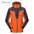 2016 Detector de Marca Hombres Mujeres Amantes de Senderismo chaqueta Impermeable Chaqueta Cazadora de Los Hombres Caliente de Esquí Acampar Al Aire Libre
