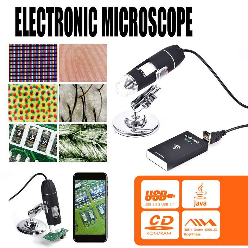 3 In 1 Wireless WiFi 8LED 1000X Digital Microscope 2MP HD 1080P USB Electronic Microscope Magnifier For Biology Industry3 In 1 Wireless WiFi 8LED 1000X Digital Microscope 2MP HD 1080P USB Electronic Microscope Magnifier For Biology Industry