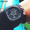 2016 Механические мужские Часы AGELOCER Марка Мужчины Спортивные Часы Швейцарские aaa Кожаные Наручные Часы 50 М Diver Часы Relogio Masculino