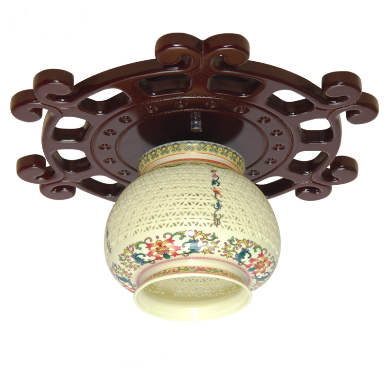 Lights & Lighting Intellective New Chinese Simple Wood Ceramics Led Ceiling Lights Plafond Lamp For Home Living Room Lights Ceiling Light Fixture Kitchen Lamps Delaying Senility Ceiling Lights & Fans