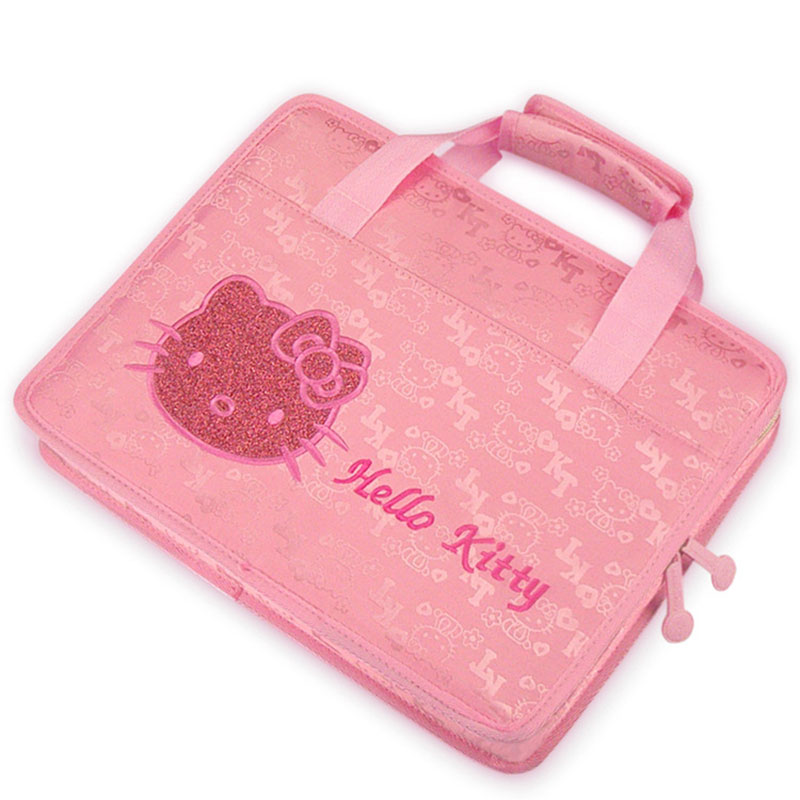 HelloKitty Laptop Bag Pouch Girl's File Package Briefcase Handbag Notebook Case for Dell HP Lenovo 13 14 15 inch Soft Cover Pink notebook bag laptop messenger 11 12 13 14 15 for macbook air 13 case lenovo samsung dell asus waterproof travel briefcase