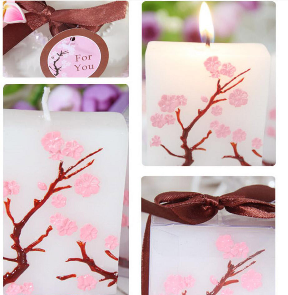 10pcs Sakura Cherry Blossoms Candle For Wedding Party Baby Shower ...