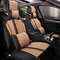 (Frente + Traseira) ATSL Couro especial tampas de assento do carro Para Cadillac SLS SRX CTS XTS ATS CT6 Escalade auto acessórios do carro styling