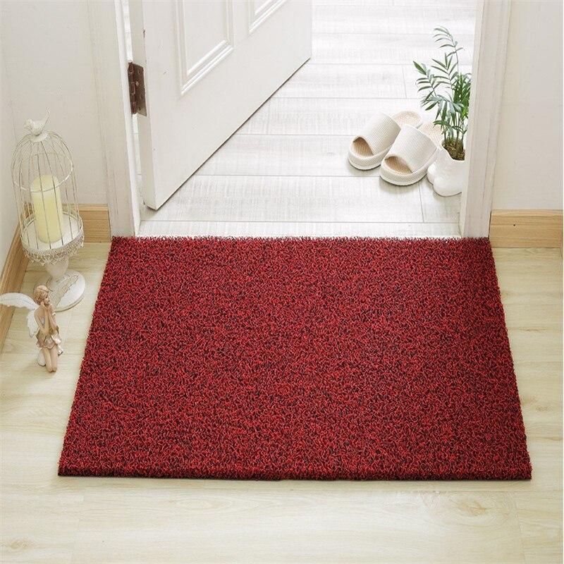 Beibehang tapis de sol anneau de fil haut de gamme entrée maison couloir d'entrée frotter tapis de sol tapis de toilette salle de bain tapis de sol en plastique personnalisé