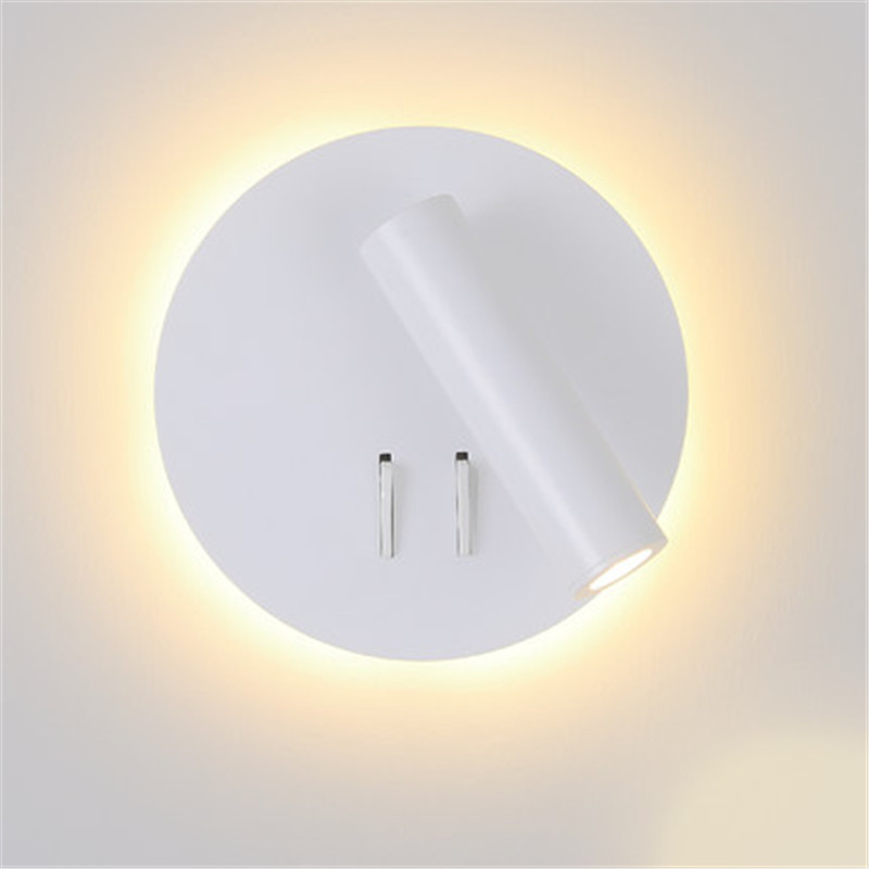 Simple Modern Section Switch LED Wall Light Fixtures Rotating Bedside Wall Lamp USB Charging Creative Wall Sconces Lighting simple creative adjust modern led wall light fixtures rotating bedside wall lamp switch usb charging wall sconce home lighting