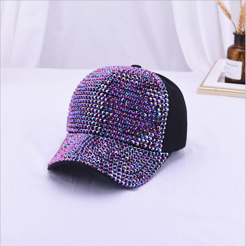 2019 Rhinestones luxury pearl Sequins Baseball Cap For Women Summer Cotton Hat Girls Snapback Hip hop hat Gorras Casquette Bones Karachi
