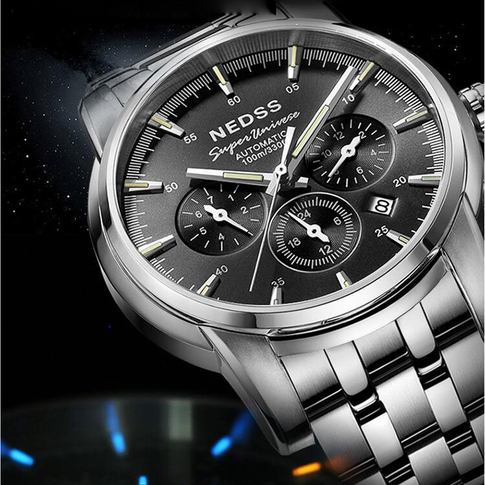 Luxury top  Men Automatic Mechanical Watch Tritium Light Lumious Japan Movement Waterproof 100m Stainless Steel Military WatchLuxury top  Men Automatic Mechanical Watch Tritium Light Lumious Japan Movement Waterproof 100m Stainless Steel Military Watch