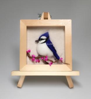 Bird series cartoon set wool needlepoint kit wool felt needle felting decoration craft needlecraft DIY handmade