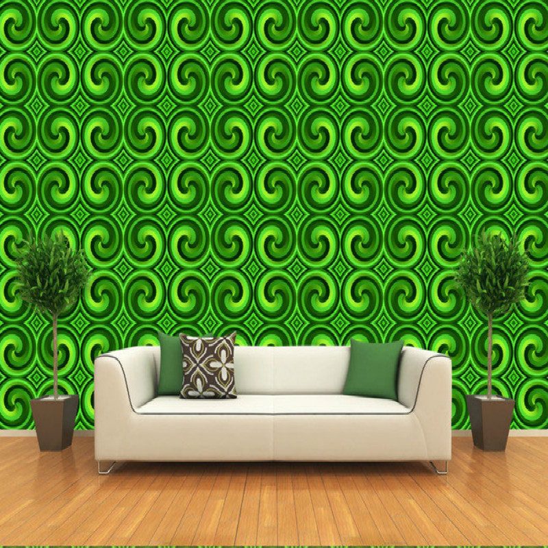 Large green spiral texture 3D wallpaper mural wall painting living room bedroom TV backdrop stereoscopic 3D wallpaper 3d stereoscopic large mural custom wallpaper living room tv backdrop wall paper bedroom wall painting cartoon film kung fu panda