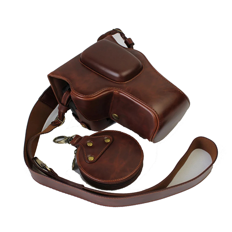 High quality PU Leather Camera case For Nikon D3100 D3200 D3300 D3400 Camera Bag Cover Open
