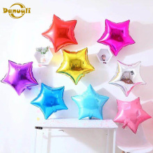 5pcs 18 inch Five-pointed star Heart foil balloons baby shower birthday party Wedding decoration supplies for kids