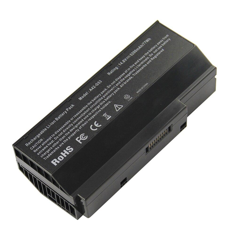 5200mAh For Asus Laptop Battery A42-G73 A42-G53 G73-52 G73J G73JH G73JW  G73JH-A1 G73JH-A2 G73JH-RBBX05 G73JH-X1 G73JH-X2 G73S