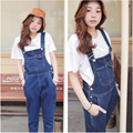 Denim Jumpsuits Women's Overalls Pants Jeans Loose Solid Female Ripped Ladies Cowboy Slim Casual Romper Women Denim Jumpsuit
