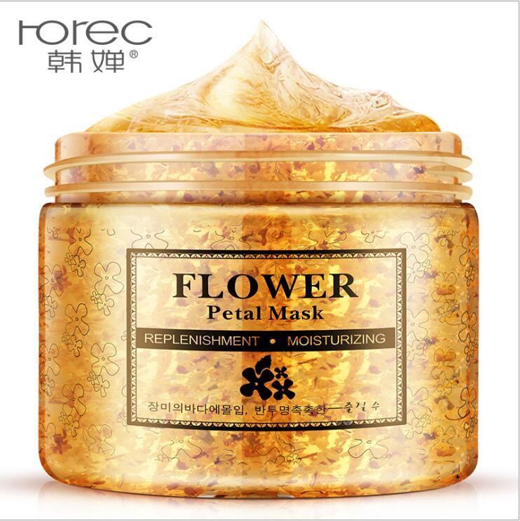 Flower Petals Mask Hydrating Face Mask Whitening Hydrating Moisturizing Washable Day And Night Mask Anti-Aging Skin Care