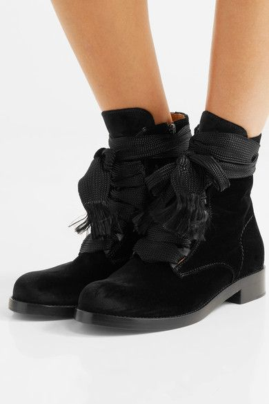 2018 Spring Fashion Black Smooth Leather Women Round Toe Ankle Boots Thicken Shoelace Ladies Knight Boots Lace Up Martin Boots