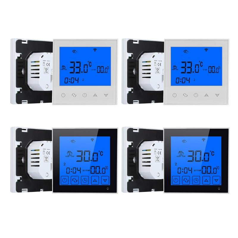 Wifi LCD Touch Screen Smart Temperature Thermostat Wireless Room Underfloor Heating Controller Thermoregulator valve radiator linkage controller weekly programmable room thermostat wifi app for gas boiler underfloor heating