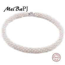 2017 натуральное ожерелье из 100% натурального жемчуга подарок для матери драгоценное Круглое Белое розовое фиолетовое жемчужное ювелирное изделие ожерелье чокер