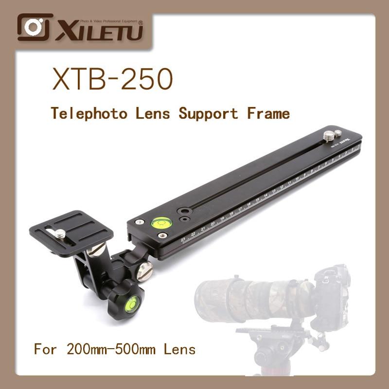 XILETU XTB-250 Telephoto lens Adapter Support frame+250mm Lengthen Plate Long-focus Bracket Kit for Bird Watching 1/4'-3/8'inch