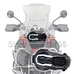 2018 LED reflektor dla BMW R1200GS R 1200 GS adv r1200gs lc 2004 2012 (fit chłodnica oleju) na