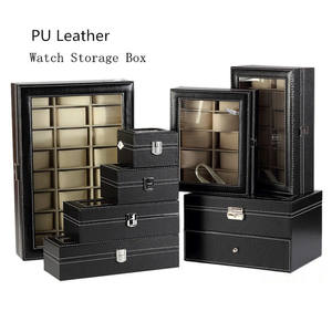 Watch-Box Boxes-Case Jewelry Display Black Women Package Gift Window with New Wholesale