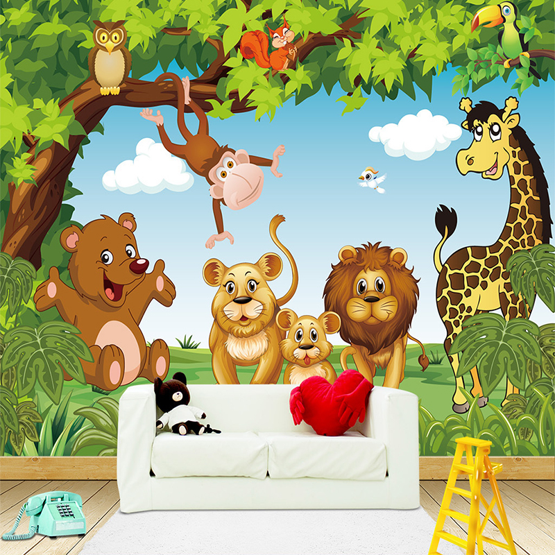 Customize 3D Photo Cartoon Animation Children Room Wallpaper for Kids RoomBoy Girl Bedroom Wallpapers 3D Mural Wall paper beibehang wall paper pune girl room cartoon children s room bedroom shop for environmental non woven wallpaper ocean mermaid