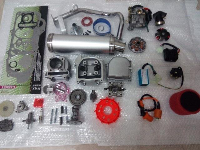 47 мм большой апертурой 80CC комплект производительность A9 cam CDI GY6 50cc карбюратор 139QMB1P39QMA серебро высокая производительность глушитель