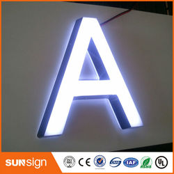 Top quality indoor advertising acrylic alphabet letter with LED light