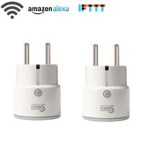Temporizador de tomada inteligente do controle remoto do neo coolcam, mini do google home, ifttt, alexa para automação de casa inteligente
