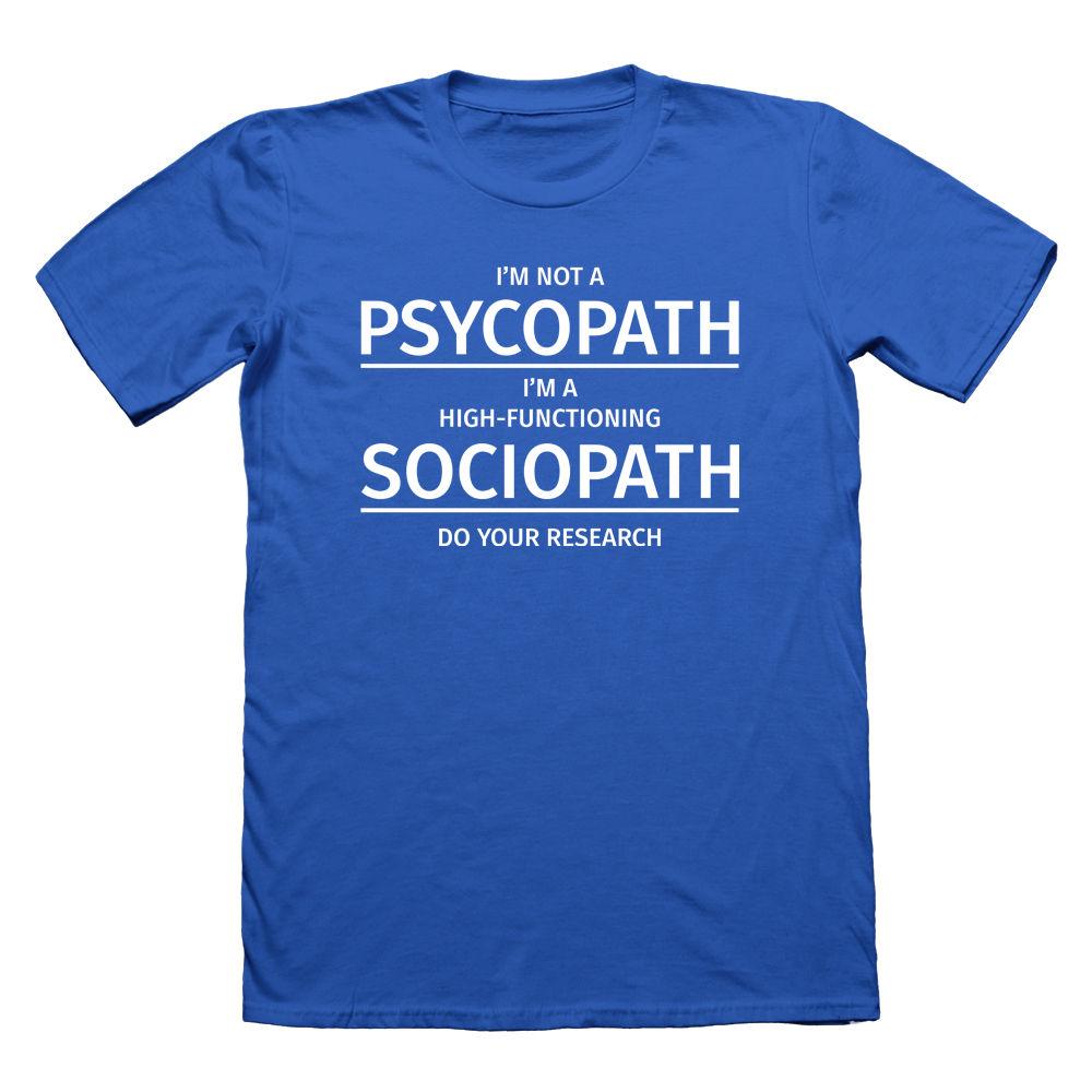 Sherlock Holmes Sociopathe Drôle T Shirt Psychopathe Drôle Humour Je