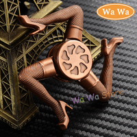 Spring Toy Hand Spinner Red Copper Torqbar Metal Tri Fidget Spinner Anti Stress Toys Gift Man