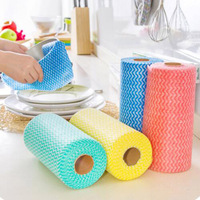 4 Package Non Woven Cloth Wipes Kitchen Clean Dish Cloth Non Stick Oil Can Not Lose