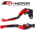 GT Motor - F-21  K-828 Adjustable CNC 3D Extendable Folding Brake Clutch Levers For KAWASAKI Z750 2007-2011  Z800/E  2013-2014