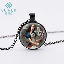Glinda Handmade Silver Plated Alice Madness Returns Cheshire Cat Pendant Necklace women Jewelry Lucky Amulet Personalized Gift