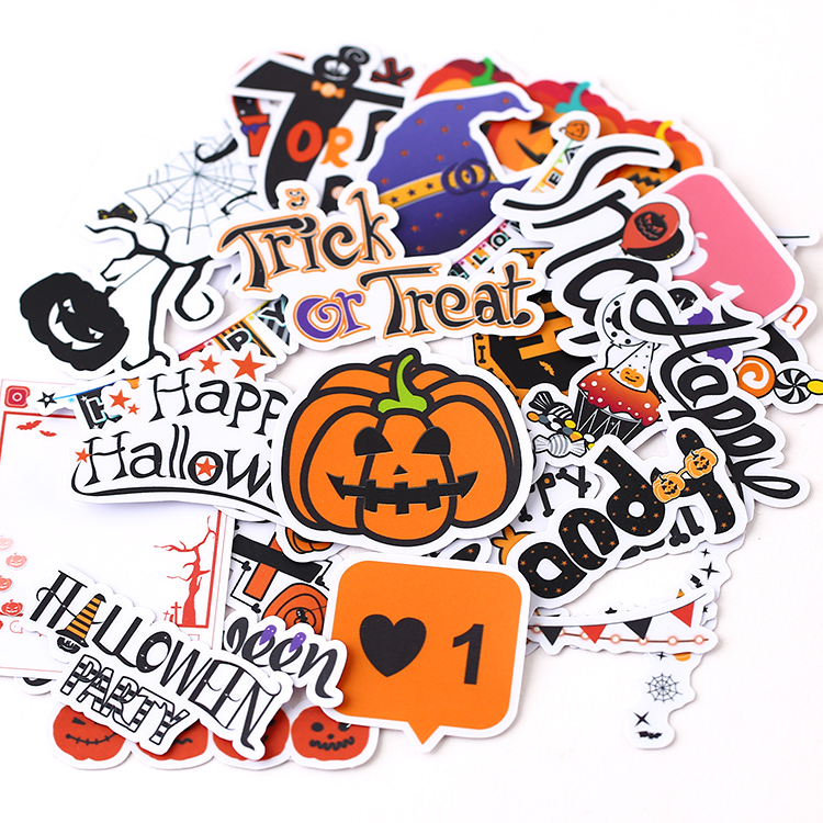 31pcs Cute Self-made Halloween All Saints' Day Stickers  Mobile Phone DIy Diary Album Decoration Scrapbooking Child Waterproof
