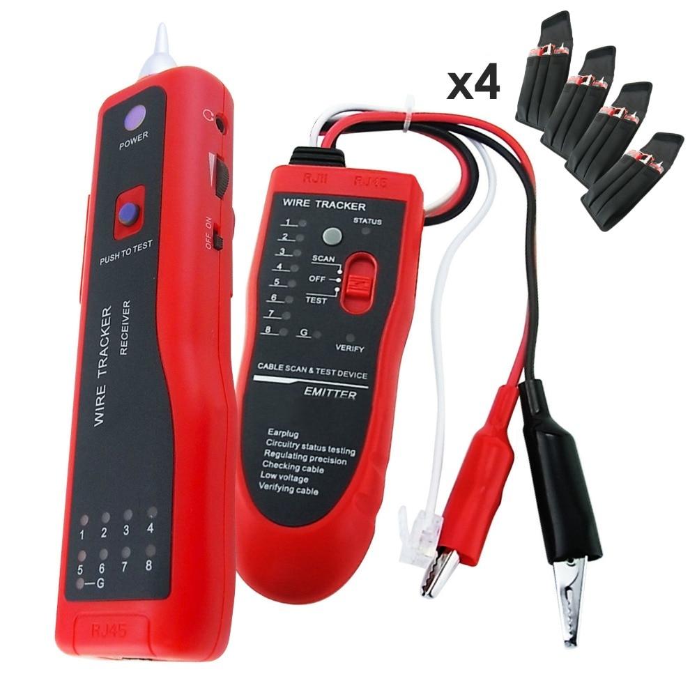 4 pièces x détecteur de fil électrique téléphone traceur réseau LAN RJ45 BNC testeur de câble Tracker lot de 4