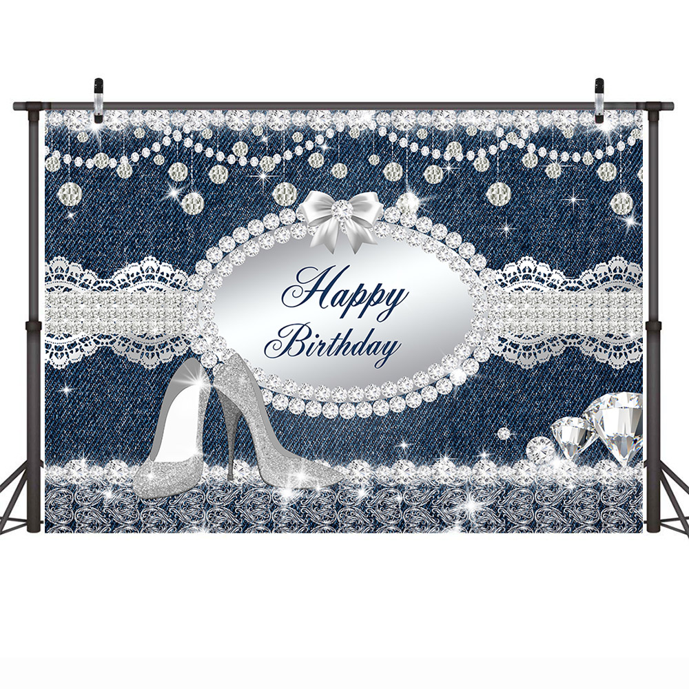 Mehofoto Celebration Birthday Party Backdrop for Lady Banner Decoration High Heels Customized Photographic Background for Photo in Background from Consumer Electronics