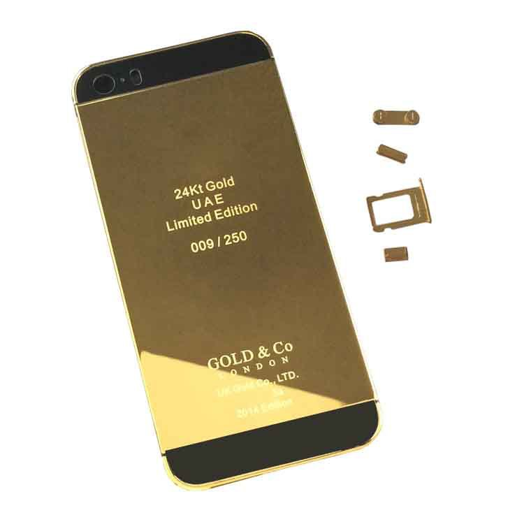 For IPhone 5S 24K 24Kt 24Ct Diamond Midframe GOLD Black Glass Replacement Back Cover Housing Crystals LOGOButtonsPrinted Words On Aliexpress