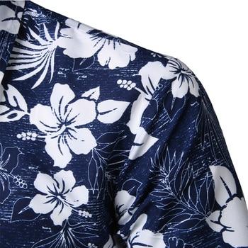 Mens Summer Beach Hawaiian Shirt 2020 Brand Short Sleeve Plus Size Floral Shirts Men Casual Holiday Vacation Clothing Camisas 3