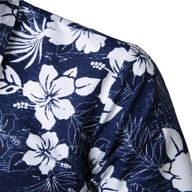 Mens Summer Beach Hawaiian Shirt 2018 Brand Short Sleeve Plus Size Floral Shirts Men Casual Holiday Vacation Clothing Camisas 2