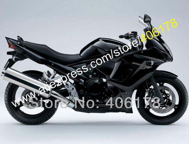 Hot Sales,For Suzuki GSXF 650 GSXF650 08 09 10 11 12 13 GSX650F GSX 650F 2008 2009 2010 2011 2012 2013 All Black Fairing Set