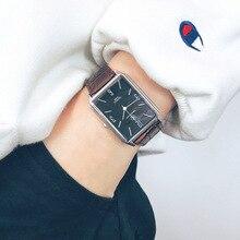Новые классические ретро римские прямоугольные Мужские часы Мужские нежные кварцевые наручные часы мужские деловые часы Relogio Masculino