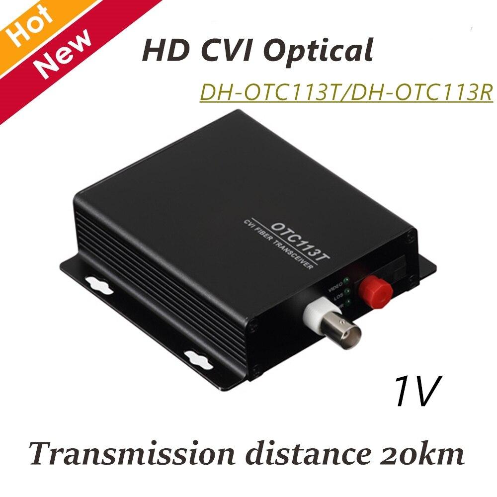 DH 1V HD CVI Optical CCTV Accessories DH-OTC113T DH-OTC113R Video Optical Monitor video converter 720p цена