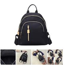 2019 New Mini Backpack Women PU Leather Shoulder Bag For Teenage Oxford Cloth Zipper Casual Backpacks dg88