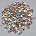Lt.C Topaz AB ss3, Ss4, Ss5, Ss6, Ss8, Ss10, Ss12, Ss16, Ss20, Ss30 cristal de volta plana não Hotfix Nail Art cola em strass