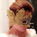 Evening Performances Luminous Mask 2015 New Feather Butterfly Gold Mask Halloween Prom Mask Festive & Party Supplies 9Z-JR021
